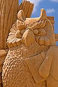 Owl, Sand sculpture festival on the Haifa beach, July 2006