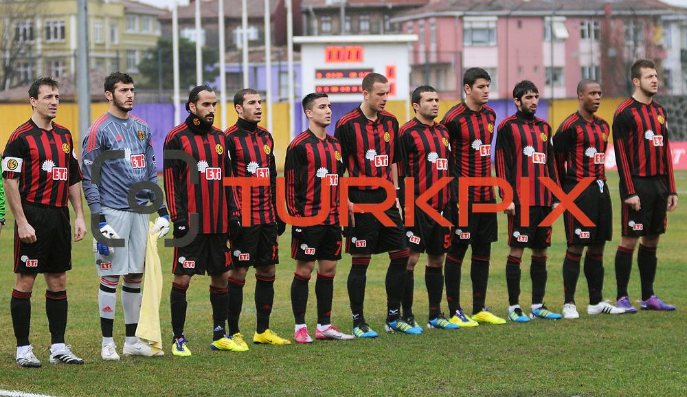 Eskisehirspor's players during their Turkey Cup matchday 3 soccer match Eyupspor between Eskisehirspor at Eyup Stadium in Istanbul Turkey on Wednesday, 11 January 2012. Photo by TURKPIX