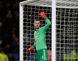 David De Gea of Manchester United  - Mandatory byline: Jack Phillips/JMP - 07966386802 - 28/11/2015 - SPORT - FOOTBALL - Leicester - King Power Stadium - Leicester City v Manchester United - Barclays Premier League