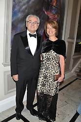 The Brazilian Ambassador to the UK ROBERTO JAGUARIBE and MRS CINARA DE LIMA at Brazil Now a gala ball in aid of the Red Cross held at the Grand Connaught Rooms, 61-65 Queen Street, London on 6th November 2012.