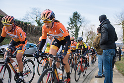 Romy Kasper on the second of five ascents of the climb on the local lap - 2016 Omloop van het Hageland - Tielt-Winge, a 129km road race starting and finishing in Tielt-Winge, on February 28, 2016 in Vlaams-Brabant, Belgium.