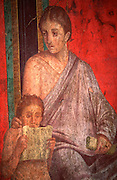 ITALY, ROMAN, POMPEII Villa of the Mysteries, frescoes