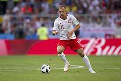 June 19, 2018 - Moscow - Kamil Grosicki of Poland in action the 2018 FIFA World Cup Group H match between Poland and Senegal at Spartak Stadium in Moscow, Russia on June 19, 2018  (Credit Image: © Andrew Surma/NurPhoto via ZUMA Press)
