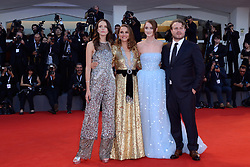 Stacy Martin, Natalie Portman, Raffey Cassidy and Brady Corbet attending the Vox Lux Premiere as part of the 75th Venice International Film Festival (Mostra) in Venice, Italy on September 04, 2018. Photo by Aurore Marechal/ABACAPRESS.COM