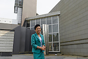 Chieko Hasegawa, Executive Vice President of the Nichido Museum of Art standing outside the museum, Kasama city, Ibaraki, Japan, May 10, 2013.