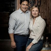 Brussels, Belgium - 29 September 2017 <br /> Ezequiel & Niovi Dominguez - Whisky producers.<br /> Photo: Ezequiel Scagnetti