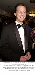 The 13th DUKE OF ARGYLL at a ball in London on 15th May 2001.	OOE 96