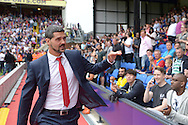 Goalkeeper Julian Speroni of Crystal Palace arrives at Selhurst Park before k/o. (not in today's squad) to watch the match. Barclays Premier league match, Crystal Palace v Arsenal at  Selhurst Park in London on Sunday 16th August 2015.<br /> pic by John Patrick Fletcher, Andrew Orchard sports photography.