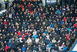 South stand, second half. Falkirk 1 v 2 Hibernian, Scottish Championship game played 31/12/2016 at The Falkirk Stadium .