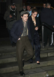 Brooklyn Beckham and Hana Cross arrive at the Late Fabulous Fund Fair at the Roundhouse in London during the Autumn/Winter 2019 London Fashion Week. PRESS ASSOCIATION. Picture date: Monday February 18, 2019. Photo credit should read: Isabel Infantes/PA Wire