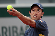 KEI NISHIKORI (JAP) during the Roland Garros 2020, Grand Slam tennis tournament, on September 30, 2020 at Roland Garros stadium in Paris, France - Photo Stephane Allaman / ProSportsImages / DPPI
