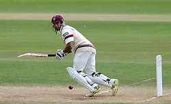 Somerset's Peter Trego flicks the ball. - Photo mandatory by-line: Harry Trump/JMP - Mobile: 07966 386802 - 17/06/15 - SPORT - CRICKET - LVCC County Championship - Division One - Day Four - Somerset v Nottinghamshire - The County Ground, Taunton, England.