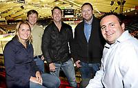 TV2 gjengen som skal sørge for hockey på TV . Ida Marie Vatn , Bjørn Erevik , Morten Langli , Carsten Skjelbreid og Geir Hoff . Foto: Thomas Andersen / Digitalsport