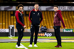 Mohamed Salah, Dejan Lovren and James Milner of Liverpool - Mandatory by-line: Robbie Stephenson/JMP - 07/01/2019 - FOOTBALL - Molineux - Wolverhampton, England - Wolverhampton Wanderers v Liverpool - Emirates FA Cup third round proper