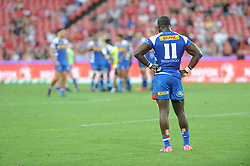 070418 Emirates Airlines Park, Ellis Park, Johannesburg, South Africa. Super Rugby. Lions vs Stormers. Raymond Rhule stands looking dejected.<br />Picture: Karen Sandison/African News Agency (ANA)