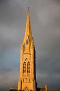 Spire St John's RC church against stormy sky, Bath