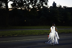 September 4, 2017 - Brooklyn, New York, United States - Marchers of J'Ouvert parade get ready at the starting point at Grand Army Plaza in Brooklyn, NY on Monday September 4, 2017.Thousands of people participate to this street party to kick off Caribbean festival...9/4/2017.Brooklyn, New York..Go Nakamura/ZUMA Wire (Credit Image: © Go Nakamura via ZUMA Wire)