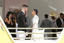 AU_1391671 - Melbourne, AUSTRALIA  -  AAMI Victoria Derby Day celebrities and VIPs in the Birdcage.<br />