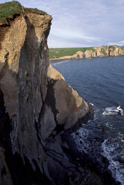Sunset along Fossil Cliffs, Narrow Cape, Kodiak Island, Alaska.