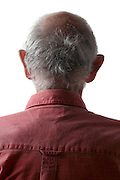 back view portrait of senior man