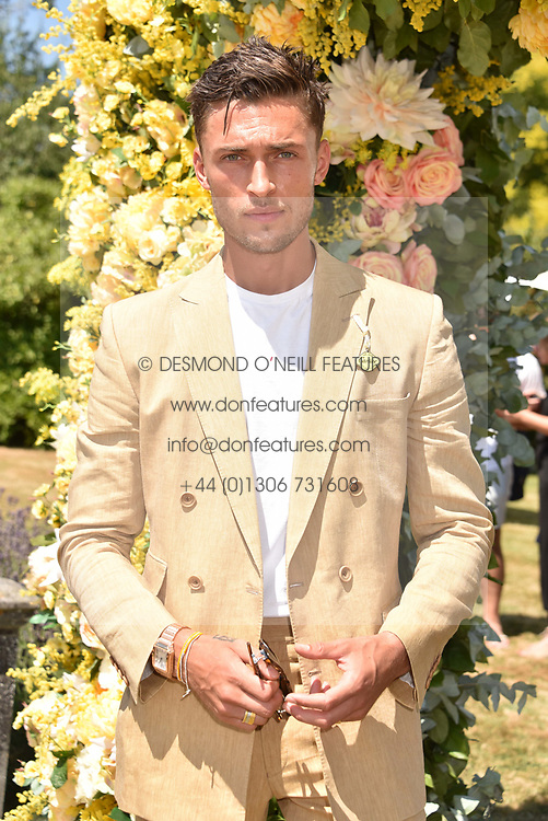 Harvey Newton Hayden at the 'Cartier Style et Luxe' enclosure during the Goodwood Festival of Speed, Goodwood House, West Sussex, England. 15 July 2018.