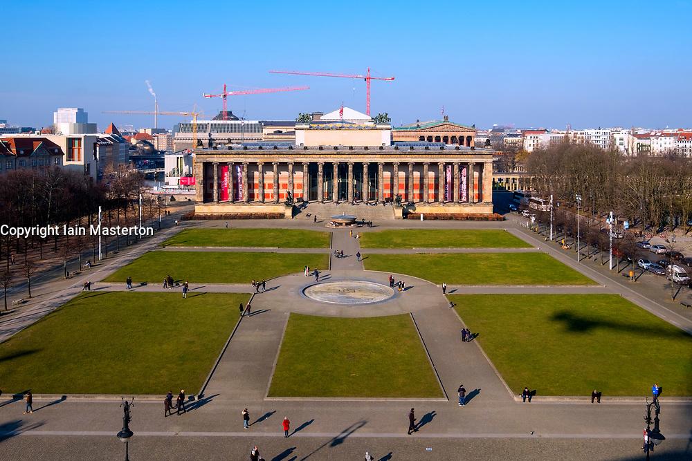 View of  Altes Museum on Lustgarten on Museum Island (Museumsinsel) in Mitte, Berlin, Germany