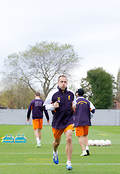 LIVERPOOL, ENGLAND - Wednesday, November 7, 2012: Liverpool's Joe Cole during a training session at the club's Melwood Training Ground ahead of the UEFA Europa League Group A match against FC Anji Makhachkala. (Pic by Vegard Grott/Propaganda)