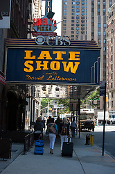 Street And Late Show Theater in New York City