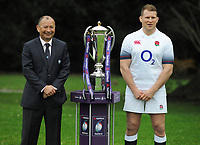 Rugby Union - 2018 Natwest Six Nations Launch Press Conference - Syon Park Hilton<br /> <br /> England coach Eddie Jones and Captain , Dylan Hartley.<br /> <br /> COLORSPORT/ANDREW COWIE
