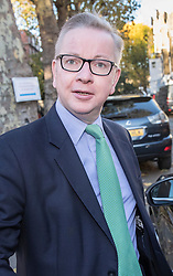 © Licensed to London News Pictures. 13/11/2017. London, UK. Environment Secretary Michael Gove leaves home for Whitehall. Mr Gove and Foreign Secretary Boris Johnson have faced criticism after a letter written by them to Prime Minister Theresa May outlining their view of the Brexit negotiations was leaked and also their understanding of the case of British woman Nazanin Zaghari-Ratcliffe in prison in Iran.  Photo credit: Peter Macdiarmid/LNP