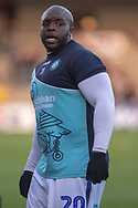Wycombe Wanderers forward Adebayo Akinfenwa (20)as he warms up for the EFL Sky Bet League 1 match between Scunthorpe United and Wycombe Wanderers at Glanford Park, Scunthorpe, England on 29 December 2018.