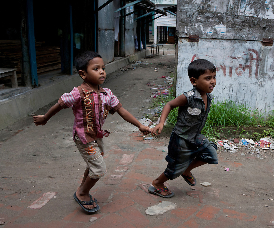 Young Boys in Asia running