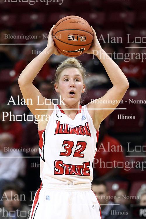 30 January 2015:  Taylor Stewart during an NCAA women's basketball game between the Bradley Braves and the Illinois Sate Redbirds at Redbird Arena in Normal IL