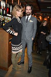 ARIZONA MUSE and JACK GUINNESS at the launch of Korean restaurant Jinjuu with chef Judy Joo at 15 Kingley Street, London on 22nd January 2015.