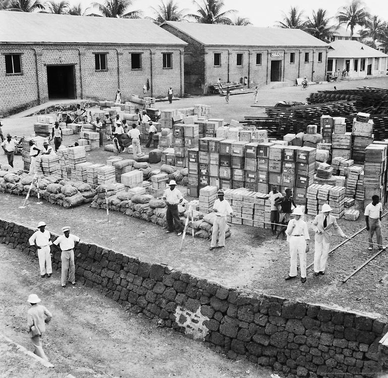 Shipment of Provisions, Coquilhatville (now Mbandaka), Belgian Congo (now Democratic Republic of the Congo), Africa, 1937