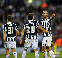 Fotball<br /> England<br /> Foto: Fotosports/Digitalsport<br /> NORWAY ONLY<br /> <br /> West Bromwich Albion v Watford Champioship 31.10.09 <br /> <br /> Gianni Zuiverloon WBA celebrates 4th goal with team mates