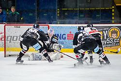 30.11.2018, Ice Rink, Znojmo, CZE, EBEL, HC Orli Znojmo vs Dornbirn Bulldogs, 24. Runde, im Bild v.l. Jan Lattner (HC Orli Znojmo) Teemu Tapio Lassila (HC Orli Znojmo) Jakub Stehlik (HC Orli Znojmo) Michael Parks (Dorbirn Bulldogs) // during the Erste Bank Eishockey League 24th round match between HC Orli Znojmo and Dornbirn Bulldogs at the Ice Rink in Znojmo, Czechia on 2018/11/30. EXPA Pictures © 2018, PhotoCredit: EXPA/ Rostislav Pfeffer