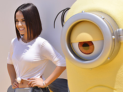"""Becky G arrives at the """"Despicable Me 3"""" Los Angeles Premiere held at the Shrine Auditorium in Los Angeles, CA on Saturday, June 24, 2017.  (Photo By Sthanlee B. Mirador) *** Please Use Credit from Credit Field ***"""