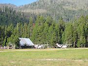 Airplanes parked at Sulphur Creek, Idahoe