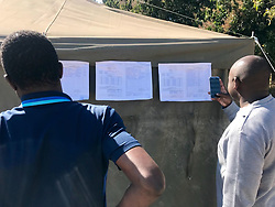 31-07-18 Zimbabwe, Harare: Result are posted outside the Polling station in Hatfield outside Harare, MDC is leading the votes. Picture: Matthews Baloyi/ African News Agency(ANA)