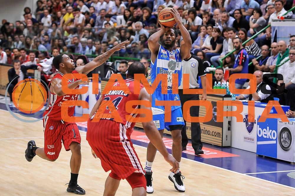 DESCRIZIONE : Campionato 2014/15 Dinamo Banco di Sardegna Sassari - Olimpia EA7 Emporio Armani Milano Playoff Semifinale Gara3<br /> GIOCATORE : Jerome Dyson<br /> CATEGORIA : Tiro Tre Punti Three Point<br /> SQUADRA : Dinamo Banco di Sardegna Sassari<br /> EVENTO : LegaBasket Serie A Beko 2014/2015 Playoff Semifinale Gara3<br /> GARA : Dinamo Banco di Sardegna Sassari - Olimpia EA7 Emporio Armani Milano Gara4<br /> DATA : 02/06/2015<br /> SPORT : Pallacanestro <br /> AUTORE : Agenzia Ciamillo-Castoria/L.Canu