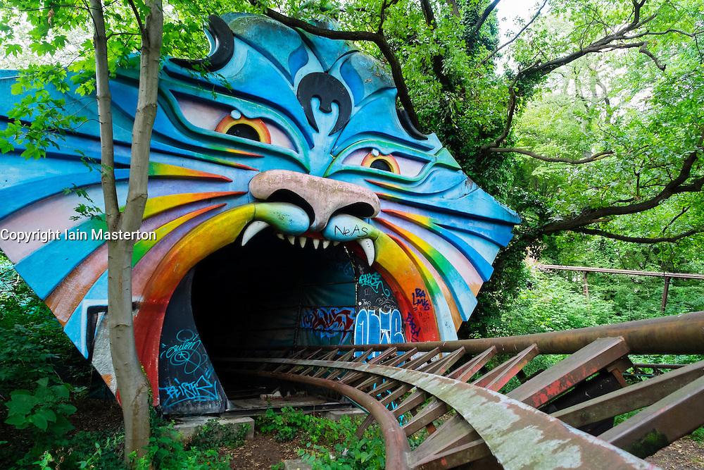 Abandoned former amusement park at Spreepark in Berlin Germany