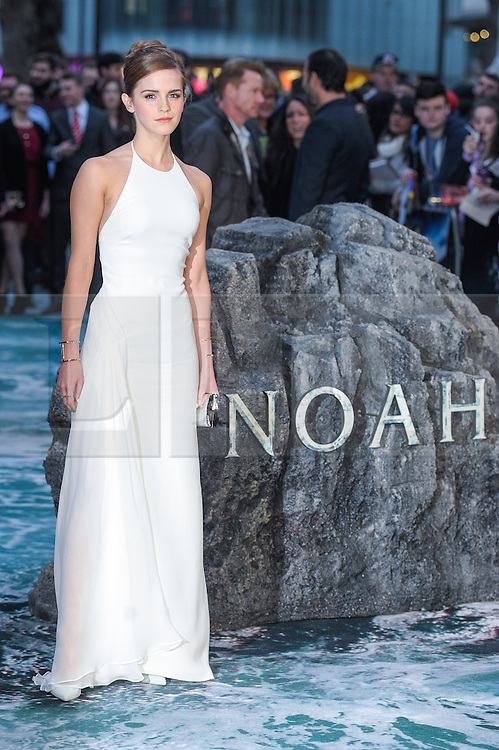 © Licensed to London News Pictures. 31/03/2014. London, UK. THE UK PREMIERE OF NOAH. Persons Pictured:  Emma Watson. Photo credit : Julie Edwards/LNP