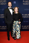 Premiere Bankier van het Verzet in DeLaMar, Amsterdam.<br /> <br /> Op de foto:  Prinses Margarita en Tjalling ten Cate