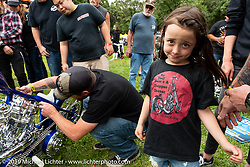 BF11 invited Builder Hawke Lawshe's daughter at the Born Free Motorcycle Show (BF11) at Oak Canyon Ranch, Silverado  CA, USA. Saturday, June 22, 2019. Photography ©2019 Michael Lichter.