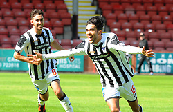 Dunfermline's Faissal El Bahktaoui (10) celebrates after scoring their first goal.  <br /> Dunfermline 5 v 1 Cowdenbeath, Scottish League Cup game played today at East End Park.