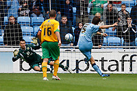 Photo: Richard Lane/Richard Lane Photography. Coventry City v Norwich City. Coca-Cola Championship. 09/08/2008. Coventry's Elliot Ward scores a goal rom a penalty.