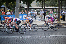 Lucinda Brand (NED) of Rabo-Liv Cycling Team digs deep during the La Course, a 89 km road race in Paris on July 24, 2016 in France.