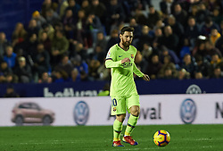 December 16, 2018 - Valencia, Valencia, Spain - Leo Messi of FC Barcelona during the La Liga match between Levante UD and FC Barcelona at Ciutat de Valencia Stadium on December 16, 2018 in Valencia, Spain. (Credit Image: © AFP7 via ZUMA Wire)