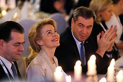 15.02.2020, Residenz München, München, GER, 56. Sicherheitskonferenz in Münchner, Abendessen in der Residenz München, im Bild Ursula von der Leyen, Präsidentin der Europäischen Kommission, zusammen mit dem Bayerischen Ministerpräsidenten Markus Söder // during a dinner on the occasion of the 56th Munich Security Conference at the Residenz München in München, Germany on 2020/02/15. EXPA Pictures © 2020, PhotoCredit: EXPA/ SM<br /> <br /> *****ATTENTION - OUT of GER*****